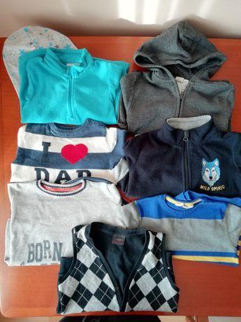 zestaw 8 x polar sweter kamizelka bluza 98/104 HM Next Quechua Lupilu