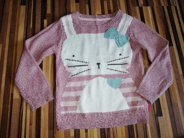 Sweter miękki ciepły królik Nutmeg 4_5lat