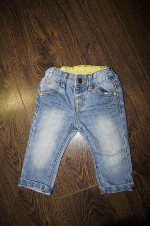 spodnie jeansy 6-9 mcy