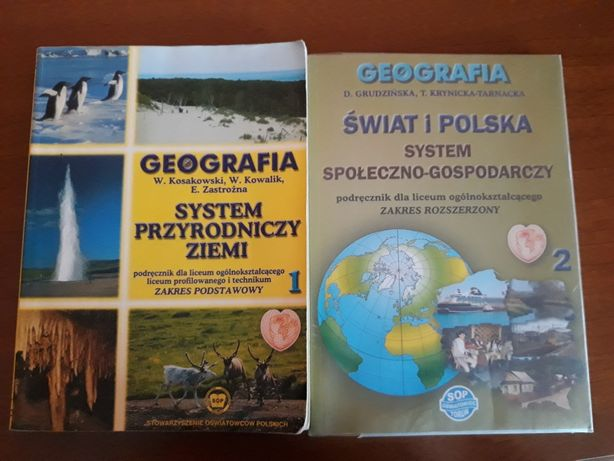 Geografia 1- Kosakowski; Geografia 2- Grudzińska