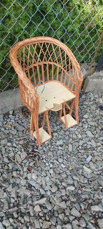 Krzesełko wiklinowe na rower