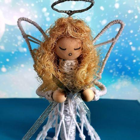 Aniołek handmade biały. Idealny jako prezent na komunię, ślub itp.