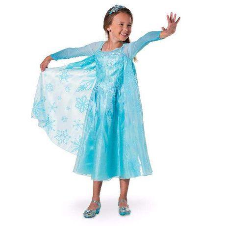 Платье Эльзы, рост 115-125, 125-135, 135-145, 145-155. Оригинал Disney