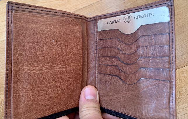 Carteira bolso Homem cartões e notas da Farc 100% pele impecável, nunc