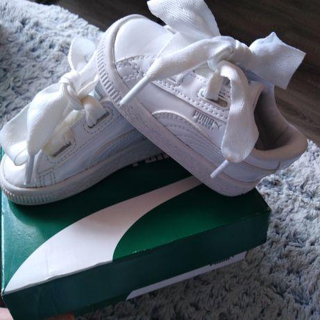Adidasy Puma 20 wkładka 13 cm białe