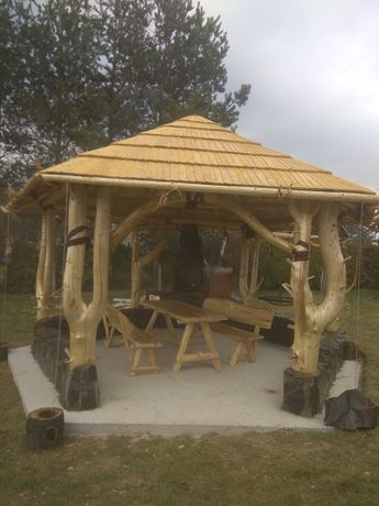Altanka altana szałas zadaszenie domek drewniany