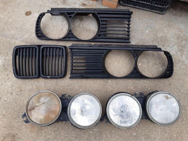 Grelhas frontais e 2 ópticas BMW 316