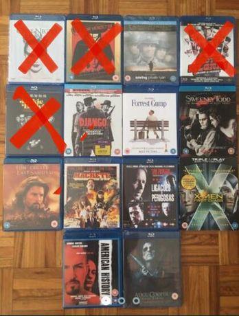 Blu-rays - vários títulos como novos, alguns selados