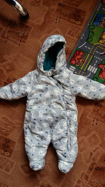 Kombinezon jesienny zimowy dziecięcy niemowlęcy 74