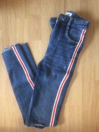 Jeans/Calças de ganga com faixa lateral - ZARA (NOVAS)