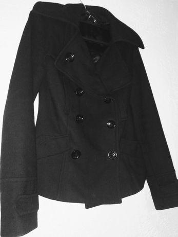 Płaszcz TOP SHOP, 34/XS, flauszowy, czarny
