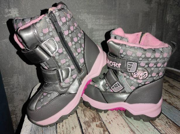 Ботинки сапоги зимние детские на девочку