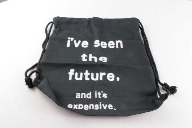 Plecak czarny z napisem