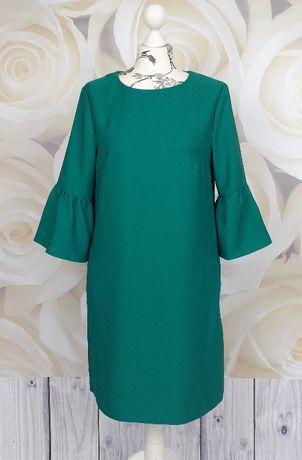 Przecena! F&F_zielona sukienka z kieszeniami_rozmiar 40
