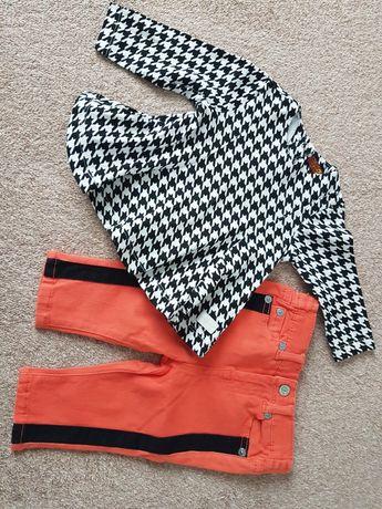 Zestaw bluzka + spodnie 3-6 mcy 62-68 cm NOWY