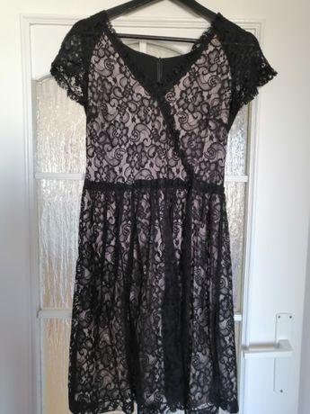 Sukienka koronkowa plus żakiet DanHen