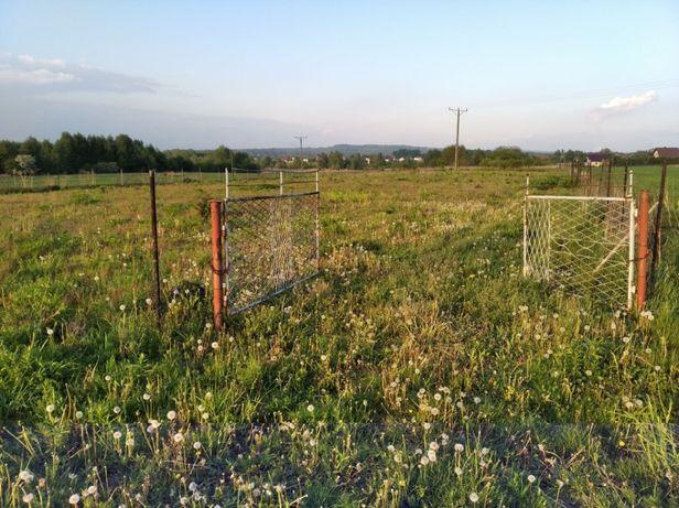 Płot ogrodzenie pola rolnego słupki metalowe siatka leśna brama 300m