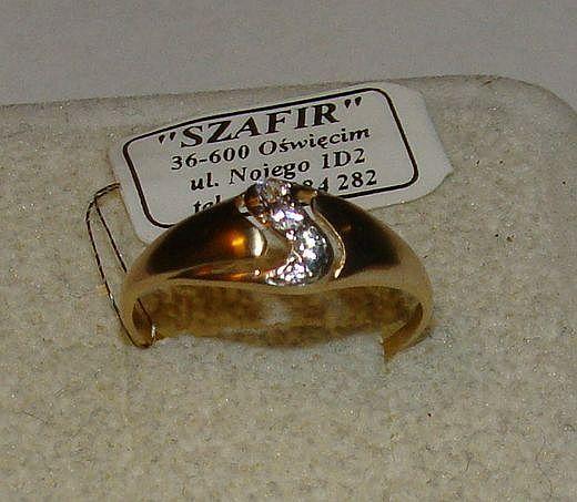 TANIO ! Złoty pierścionek próby 585 14karat-Firma Szafir-Wzór 158