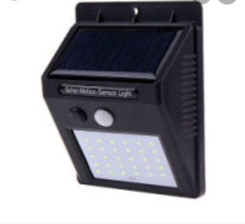 Фонарь уличный прожектор на солнечной батарее с датчиком движения 30