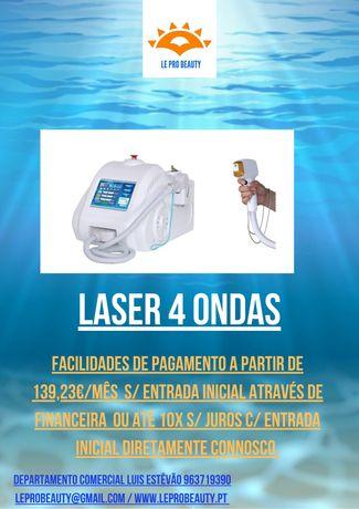 Laser 4 ondas (Alexandrite + Diodo + NDYAG)2 anos garantia,curso DGERT