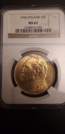 10 złotych 1936 ngc ms 62