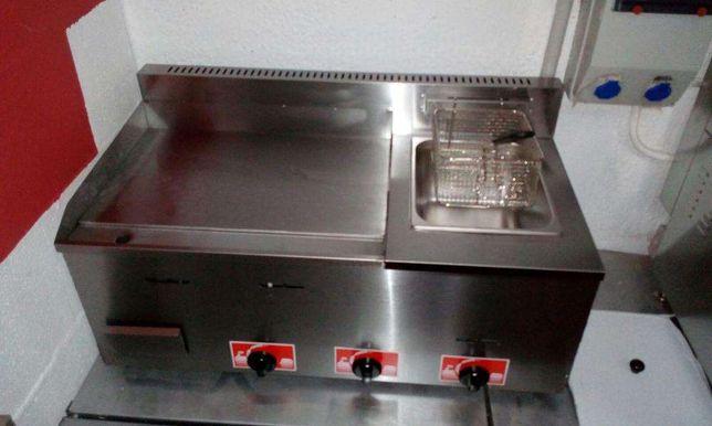 Placa grelhadora + Fritadeira a GAS NOVA