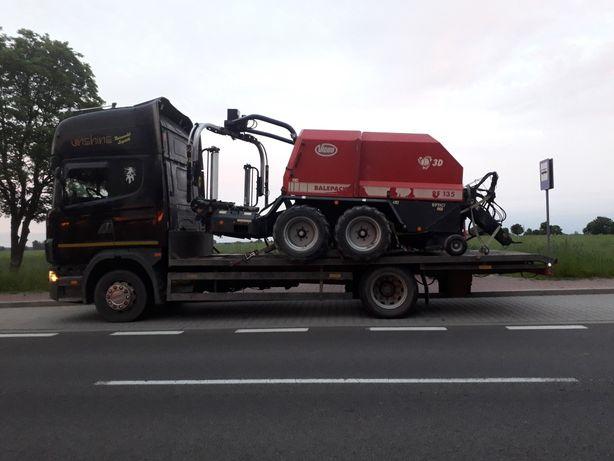 Transport maszyn laweta pomoc drogowa kraj 24h