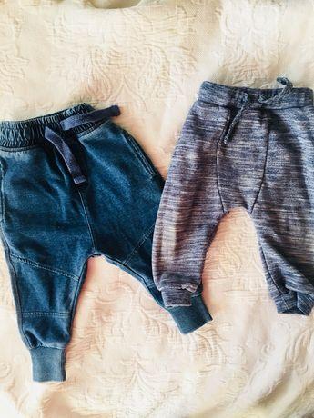 Joggery 74/80 spodnie dresowe i jeansy