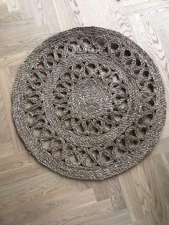 Dywan okrągły z pleciony z trawy morskiej fi 87