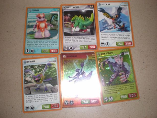 6 cartas Invizimals