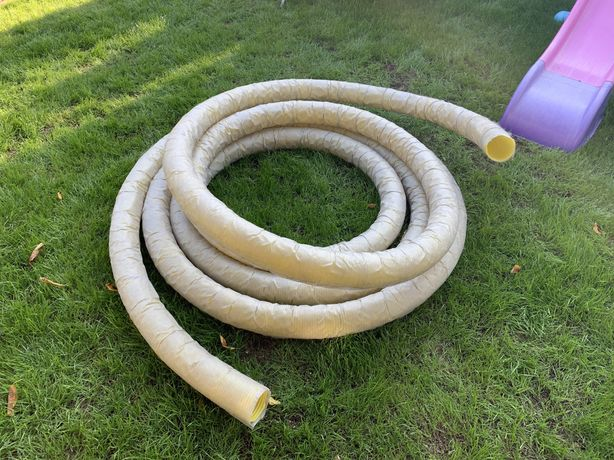 Wąż drenarski z otworami fi 100 owinięty włókniną 70 mb + dużo złączek