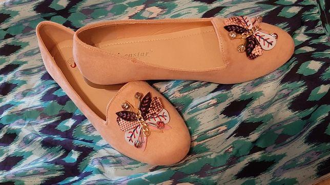 Baletki z motylkiem