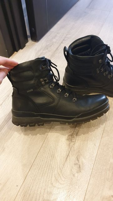 Мужские высокие ботинки Ecco Track 6 с протекторами gore-tex 43р.