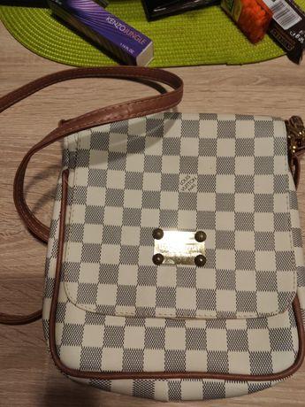Torebka listonoszka Louis Vuitton szara kratka
