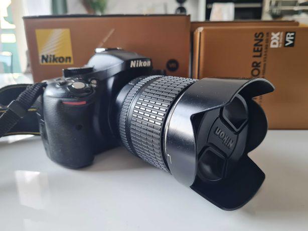Nikon 5200 + obiektyw KIT 18-105 mm - 3 szt. akumulatoròw, karton