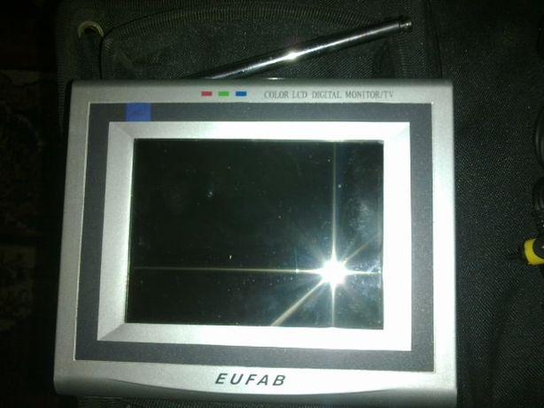 odtwarzacz player DVD CD przenośny turystyczny kpl z monitorem pilot