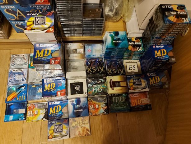Mini Disc, MINI zestaw, ponad 300 szt, nowe we folii