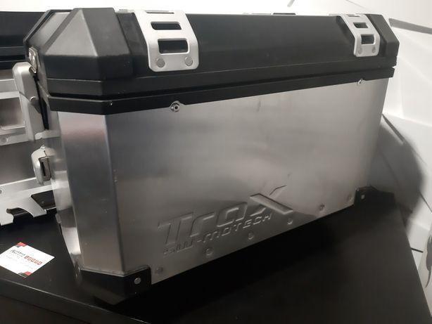 Zestaw kufrów bocznych kufer Sw Motech TRAX EVO 45L i 37L (P) ALU!