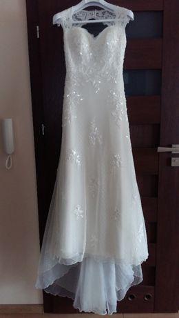 Suknia ślubna HISZPAŃSKA koronka rozm.36