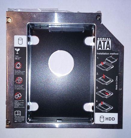 Adapter SATA-SATA SSD dysk zamiast DVD w laptopie SATA 3