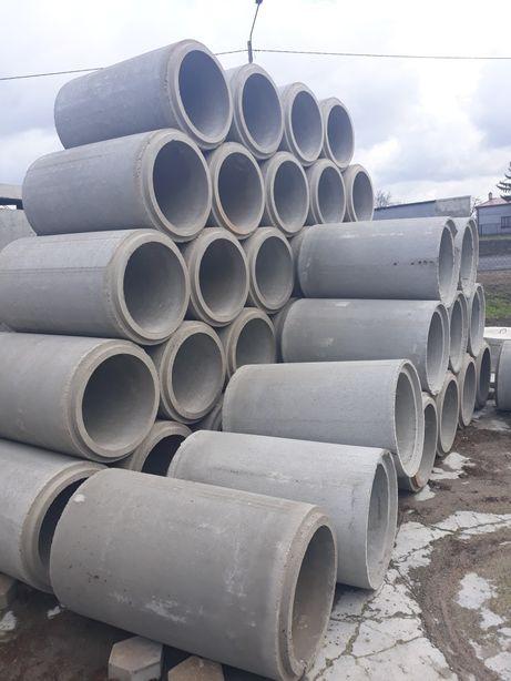 Kręgi dryny betonowe zbrojone o śr 500/1000