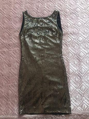 Платье в паетки miss selfige xs