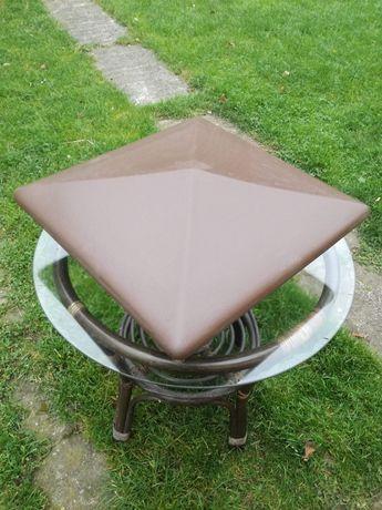 Daszek ceramiczny brązowy/brąz
