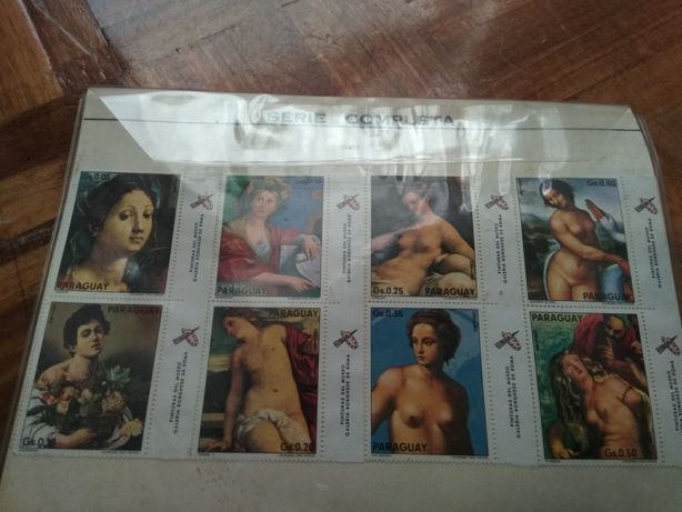 Série de 8 selos do Paraguay