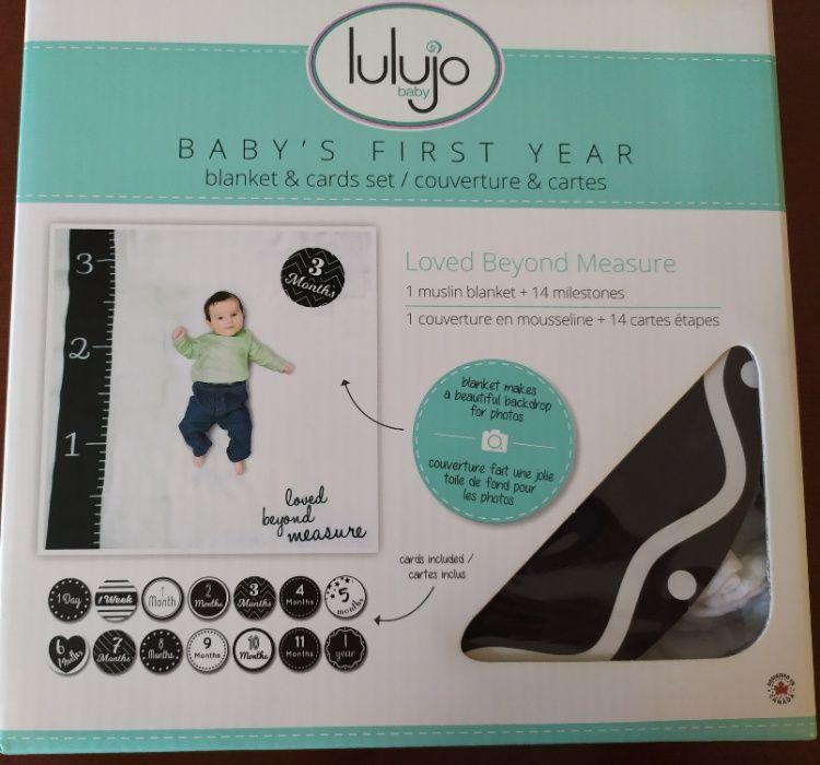 Lulujo kocyk otulacz + karty loved beyond fotografia wyprawka niemowle