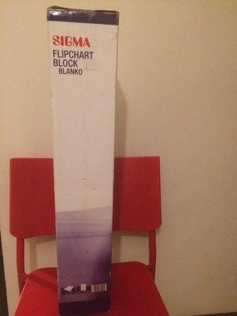 Blok do flipchartu gładki zestaw 5 x 20 kartek