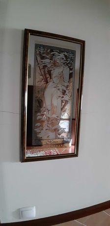 Antiguidades -Espelhos serigrafados ao estilo art nouveau