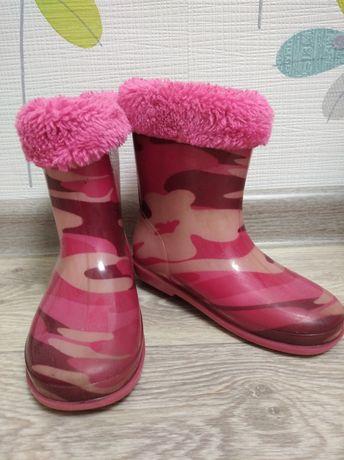 Сапоги резиновые для девочки 25 размер