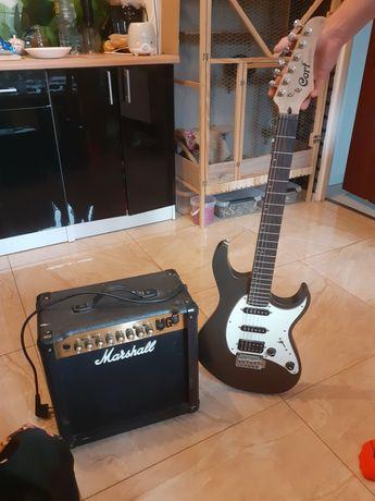 Gitara elektryczna i wzmacniacz 40W