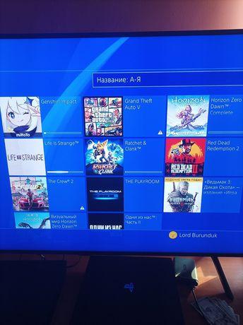 Sony Playstation 4 slim 500gb +7 игр